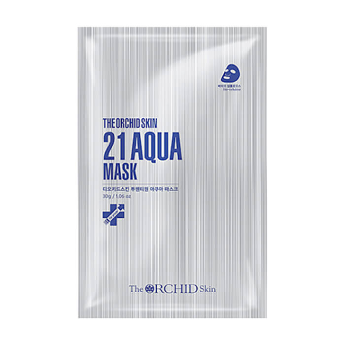 Биоцеллюлозная маска The Orchid Skin 21 Aqua Mask Увлажняющая маска для нормализации гидробаланса кожи лица фото