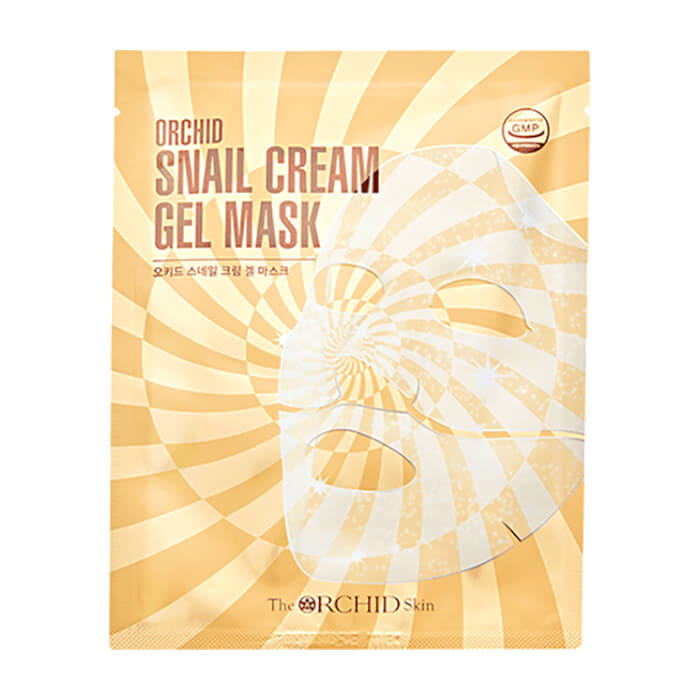 Купить Гидрогелевая маска The Orchid Skin Orchid Snail Cream Gel Mask, Гидрогелевая крем-маска с муцином улитки для восстановления кожи лица, Южная Корея