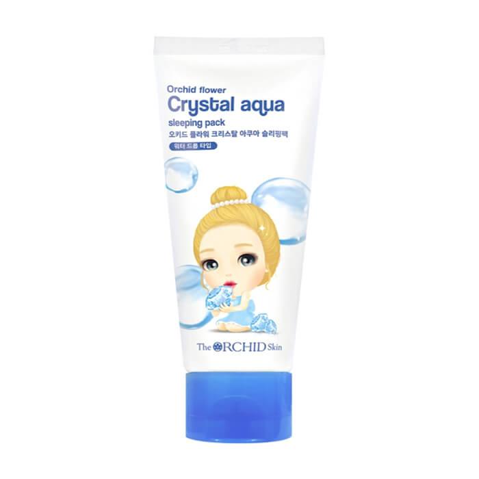 Купить Ночная маска The Orchid Skin Orchid Flower Crystal Aqua Sleeping Pack, Увлажняющая ночная маска для гладкой сияющей кожи лица, Южная Корея
