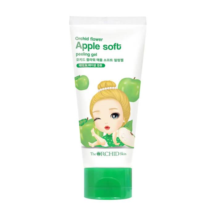 Купить Пилинг-скатка для лица The Orchid Skin Orchid Flower Apple Soft Peeling Gel, Мягкий гелевый пилинг-скатка для лица и тела с экстрактом зелёного яблока, Южная Корея