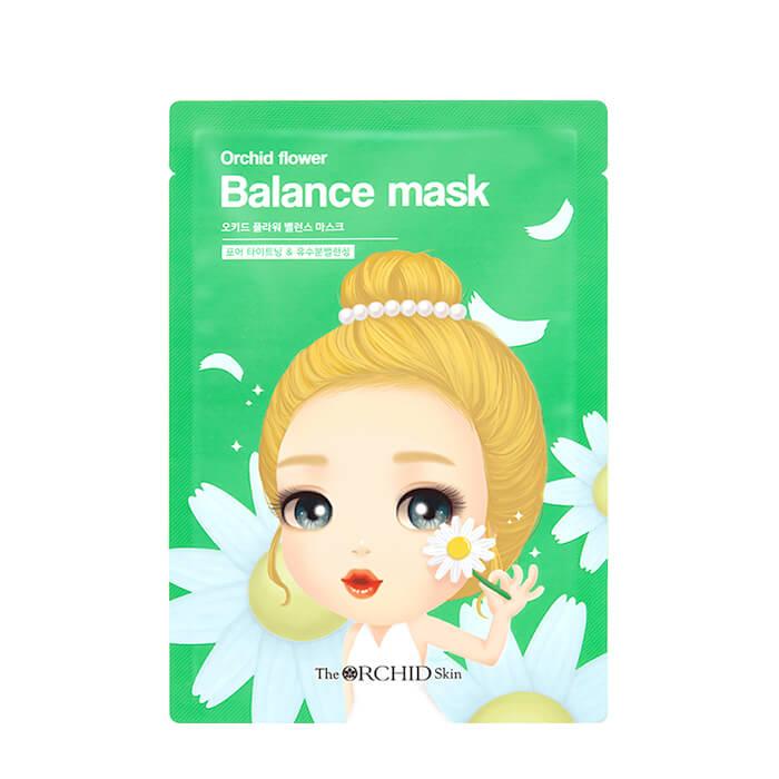 Купить Тканевая маска The Orchid Skin Orchid Flower Balance Mask (1 шт.), Балансирующая тканевая маска для сужения пор кожи лица, Южная Корея