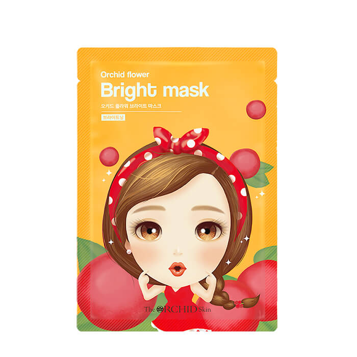 Купить Тканевая маска The Orchid Skin Orchid Flower Bright Mask (1 шт.), Осветляющая тканевая маска для выравнивания тона кожи лица, Южная Корея