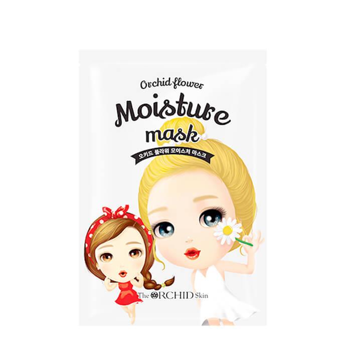 Купить Тканевая маска The Orchid Skin Orchid Flower Moisture Mask, Тканевая маска для увлажнения кожи лица с экстрактом кактуса, Южная Корея