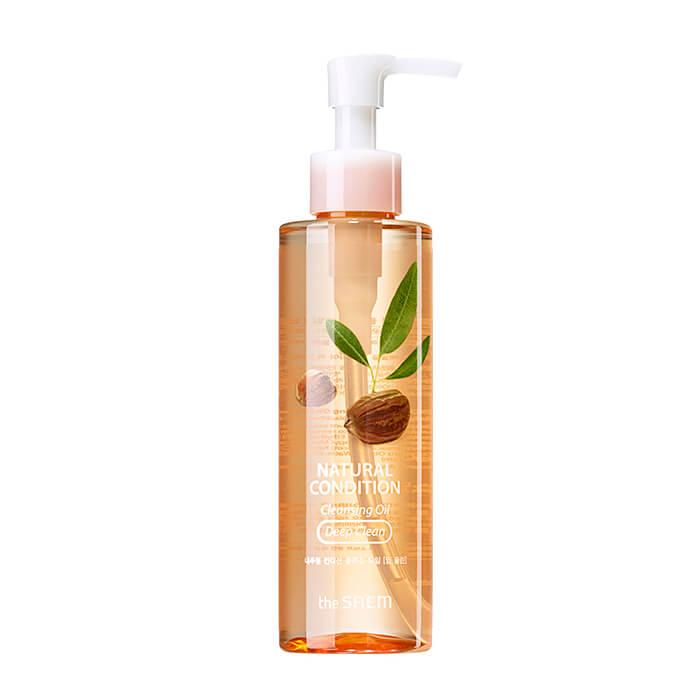 Купить Гидрофильное масло The Saem Natural Condition Cleansing Oil - Deep Clean, Глубоко очищающее гидрофильное масло с абрикосовым маслом, Южная Корея