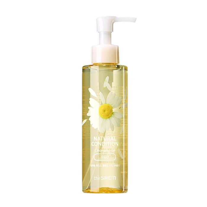 Купить Гидрофильное масло The Saem Natural Condition Cleansing Oil - Mild, Мягкое гидрофильное масло с экстрактом ромашки, Южная Корея