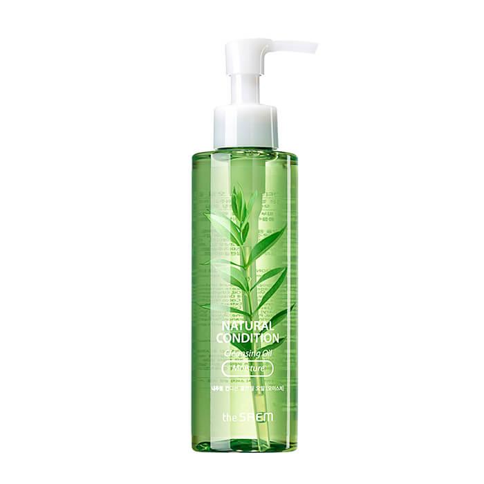Купить Гидрофильное масло The Saem Natural Condition Cleansing Oil - Moisture, Увлажняющее гидрофильное масло с экстрактом семян зелёного чая, Южная Корея