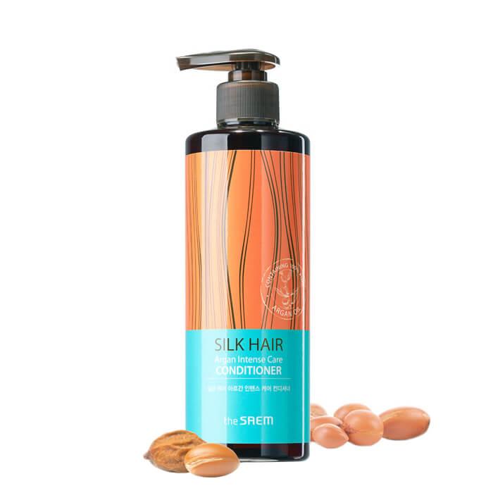 Купить Кондиционер для волос The Saem Silk Hair Argan Intense Care Conditioner, Питательный кондиционер для волос с маслом арганы, Южная Корея