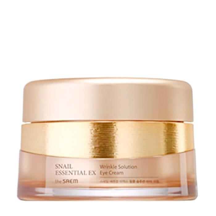 Купить Крем для век The Saem Snail Essential EX Wrinkle Solution Eye Cream, Анивозрастной крем для кожи вокруг глаз с фильтратом улиточной слизи, Южная Корея