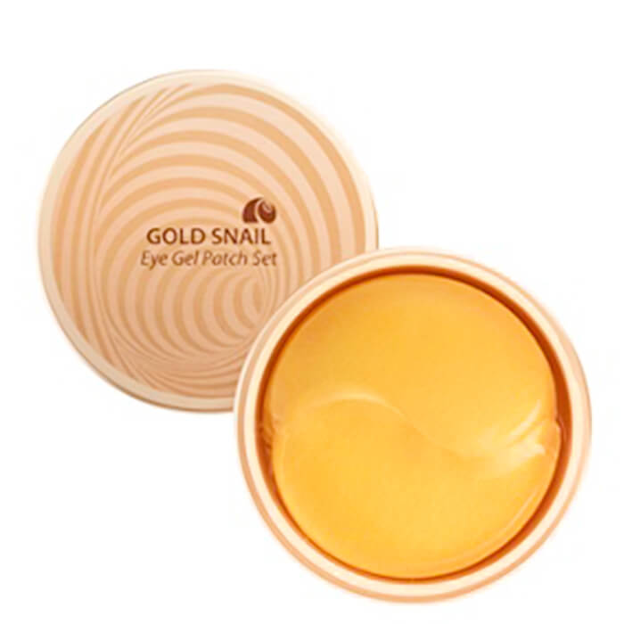 Купить Патчи для век The Saem Gold Snail Eye Gel Patch Set, Золотые гидрогелевые патчи для век с экстрактом муцина улитки, Южная Корея