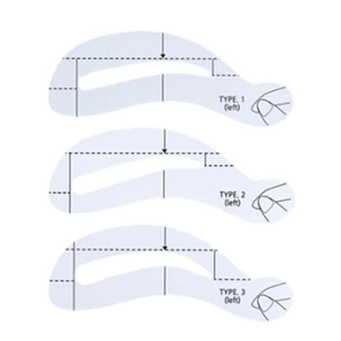 Купить Трафареты для бровей The Saem Eyebrow Guide, Набор трафаретов для прорисовки ровной и чёткой линии бровей, Южная Корея