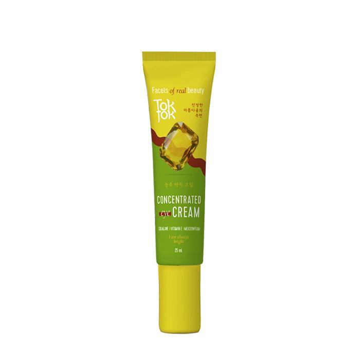Купить Крем для век TokTok Concentrated Eye Cream, Концентрированный крем с лёгкой текстурой для увлажнения и питания кожи век, Южная Корея