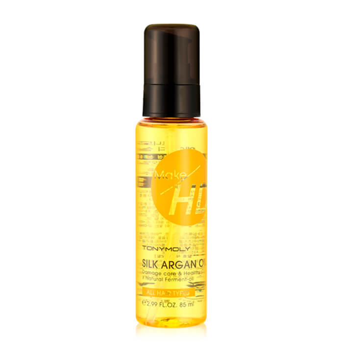 Купить Аргановое масло для волос Tony Moly Make HD Silk Argan Oil, Интенсивное средство для восстановления волос на основе арганового масла, Южная Корея
