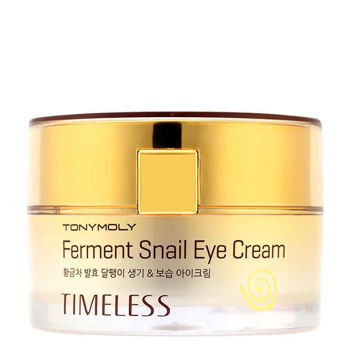Купить Крем для век Tony Moly Timeless Ferment Snail Eye Cream, Восстанавливающий крем для кожи вокруг глаз с экстрактом улитки, Южная Корея