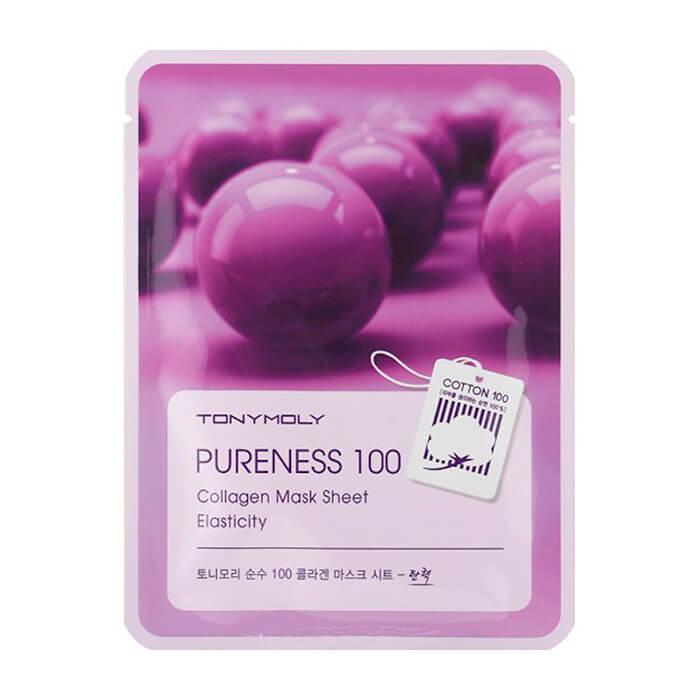 Купить Тканевая маска Tony Moly Pureness 100 Collagen Mask Sheet, Тканевая маска с коллагеном для придания упругости лицу, Южная Корея
