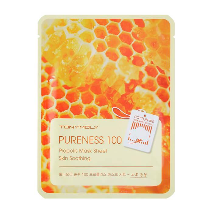Купить Тканевая маска Tony Moly Pureness 100 Propolis Mask Sheet, Успокаивающая тканевая маска для лица с прополисом, Южная Корея