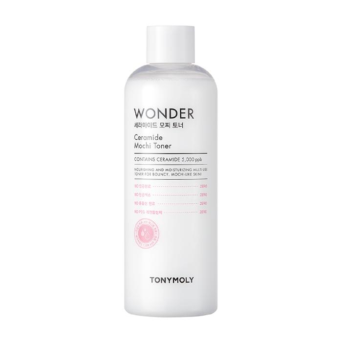 Купить Тонер для лица Tony Moly Wonder Ceramide Mochi Toner, Увлажняющий смягчающий тонер для кожи лица с керамидами в экономичной упаковке, Южная Корея