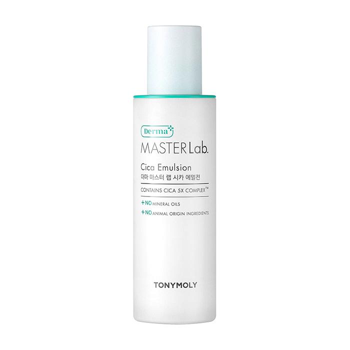 Купить Эмульсия для лица Tony Moly Derma Master Lab. Cica Emulsion, Восстанавливающая смягчающая эмульсия для кожи лица с экстрактом центеллы азиатской, Южная Корея