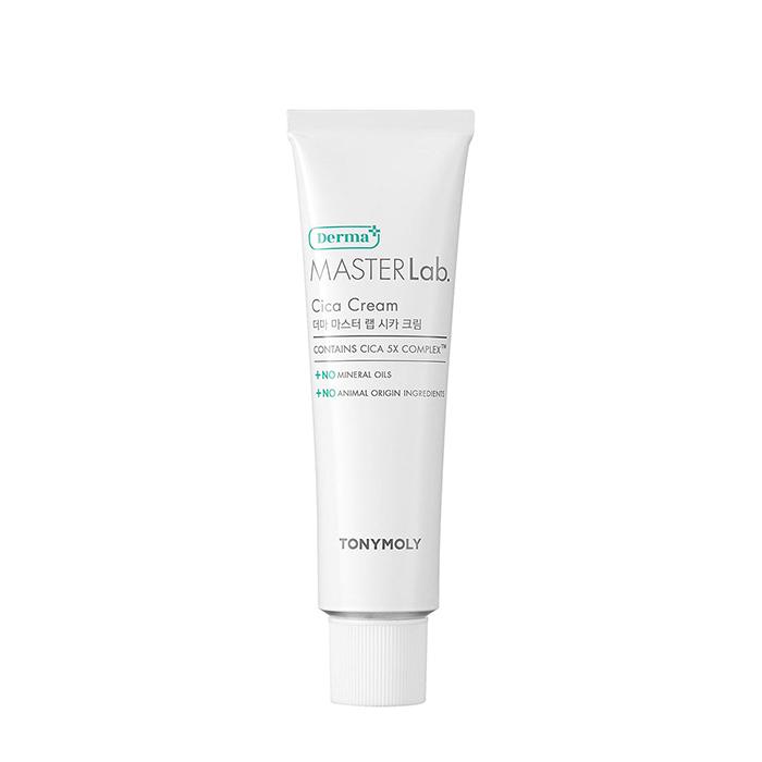 Купить Крем для лица Tony Moly Derma Master Lab. Cica Cream, Восстанавливающий смягчающий крем для кожи лица с экстрактом центеллы азиатской, Южная Корея