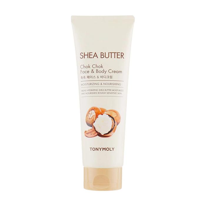 Купить Крем для лица и тела Tony Moly Shea Butter Chok Chok Face & Body Cream, Интенсивно увлажняющий крем для кожи лица и тела с маслом ши, Южная Корея
