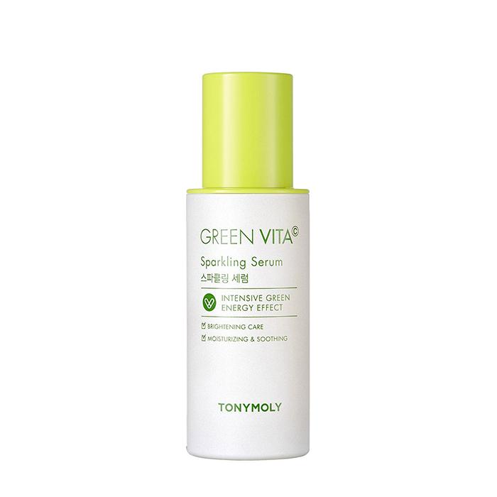 Купить Сыворотка для лица Tony Moly Green Vita C Sparkling Serum, Увлажняющая тонизирующая сыворотка для кожи лица с витамином С, Южная Корея