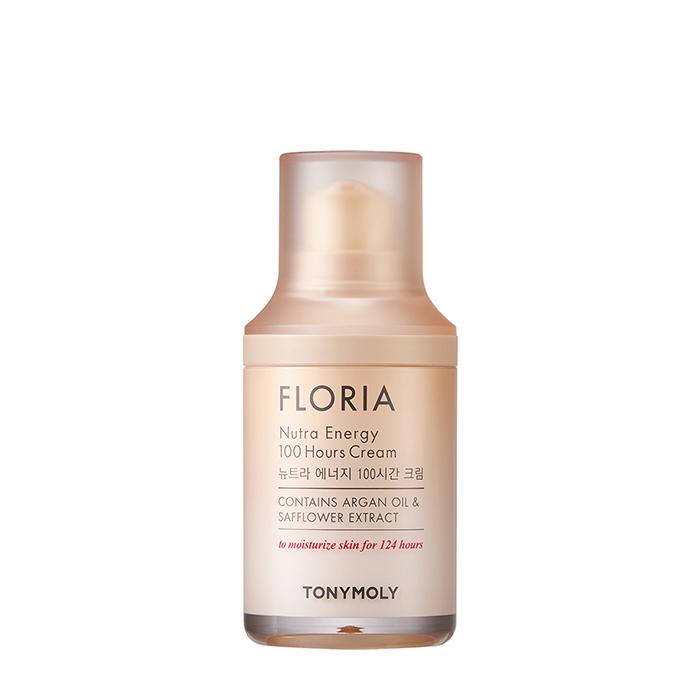 Купить Крем для лица Tony Moly Floria Nutra Energy 100 Hours Cream (45 мл), Интенсивно восстанавливающий крем для кожи лица с аргановым маслом, Южная Корея