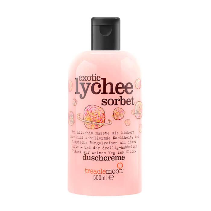 Купить Гель для душа Treaclemoon Exotic Lychee Sorbet Bath & Shower Gel (500 мл), Очищающий гель для душа с ярким бодрящим ароматом личи, Великобритания