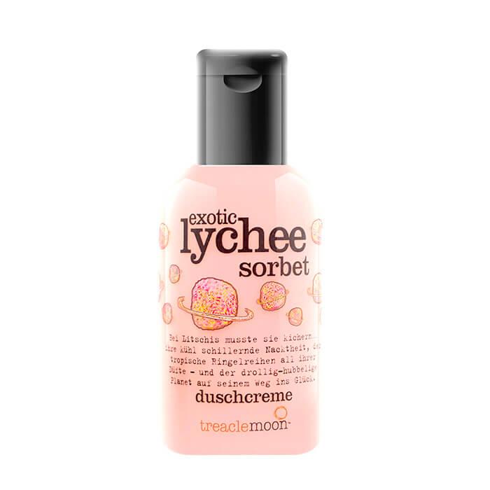 Купить Гель для душа Treaclemoon Exotic Lychee Sorbet Bath & Shower Gel (60 мл), Очищающий гель для душа с ярким бодрящим ароматом личи, Великобритания