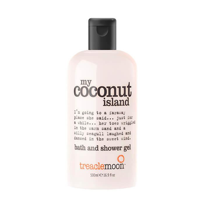 Купить Гель для душа Treaclemoon My Coconut Island Bath & Shower Gel (500 мл), Очищающий гель для душа с ярким бодрящим ароматом кокоса, Великобритания