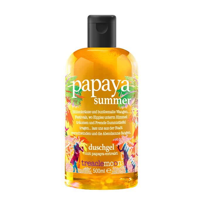 Купить ГельдлядушаTreaclemoonPapaya SummerBath & Shower Gel (500 мл), Очищающий гель для душа с летним бодрящим ароматом папайи, Великобритания