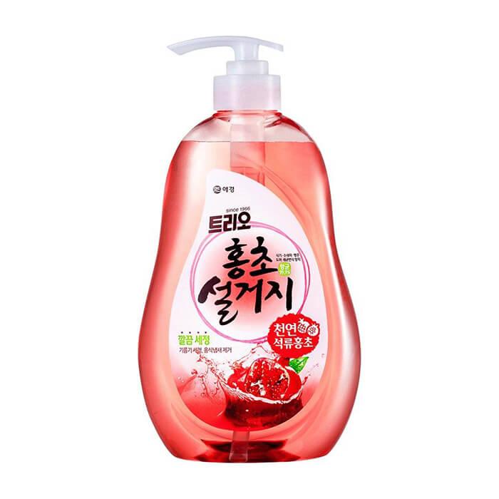 Купить Средство для мытья посуды Trio Pomegranate, Средство высшей категории для мытья посуды и овощей с экстрактом гранатового уксуса, Южная Корея