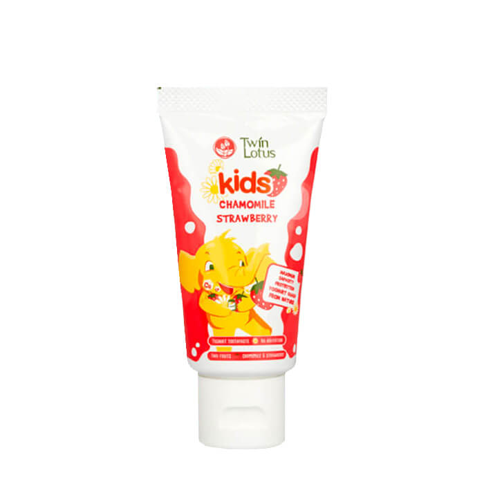 Детская зубная паста Twin Lotus Chamomile Strawberry, Зубная паста для детей со вкусом клубники и ромашки, Таиланд  - Купить