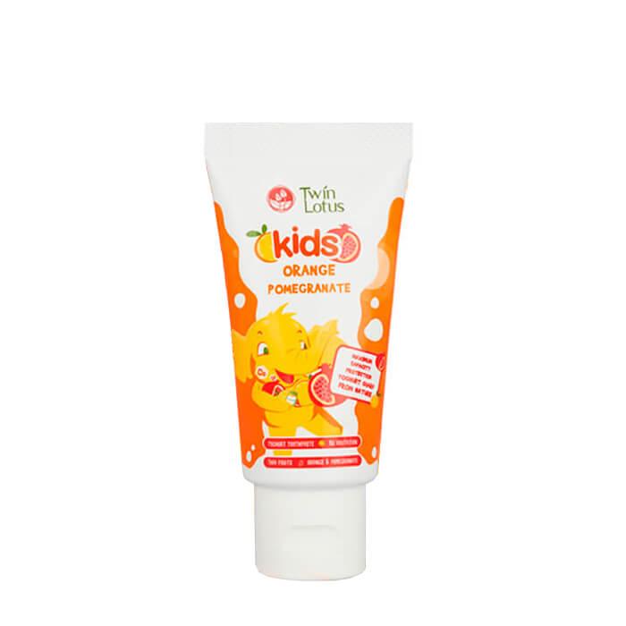Детская зубная паста Twin Lotus Orange Pomegranate Зубная паста для детей со вкусом апельсина и граната фото