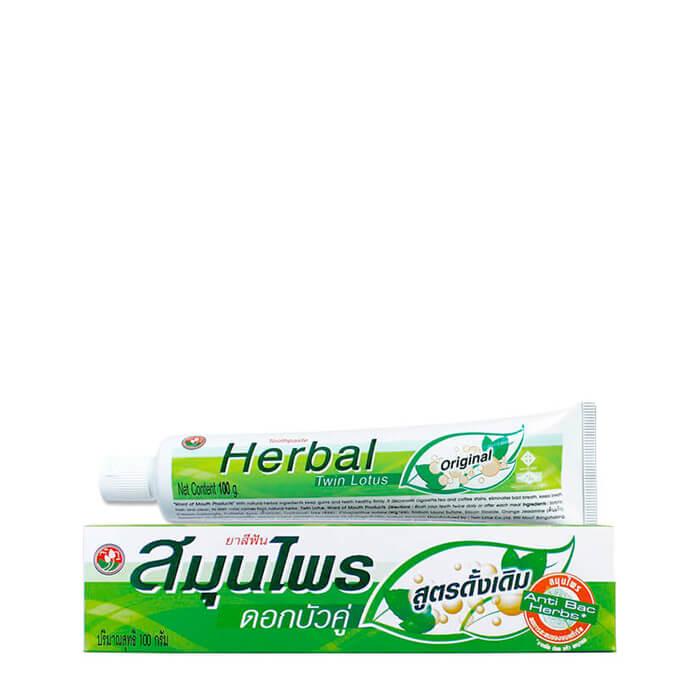 Зубная паста Twin Lotus Herbal Original (40 г) Оригинальная зубная паста с натуральными экстрактами трав фото