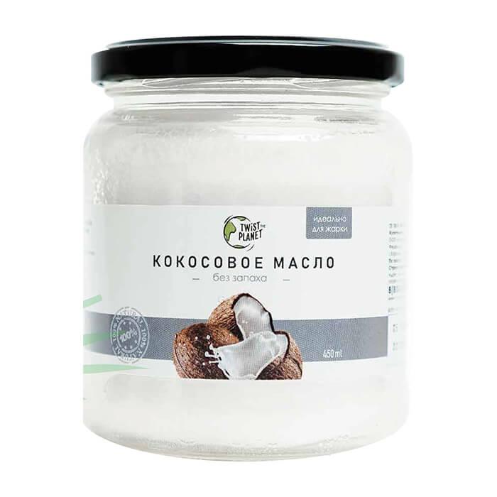 Кокосовое масло Twist The Planet Coconut Oil (450 мл) 100% натуральное органическое рафинированное кокосовое масло фото