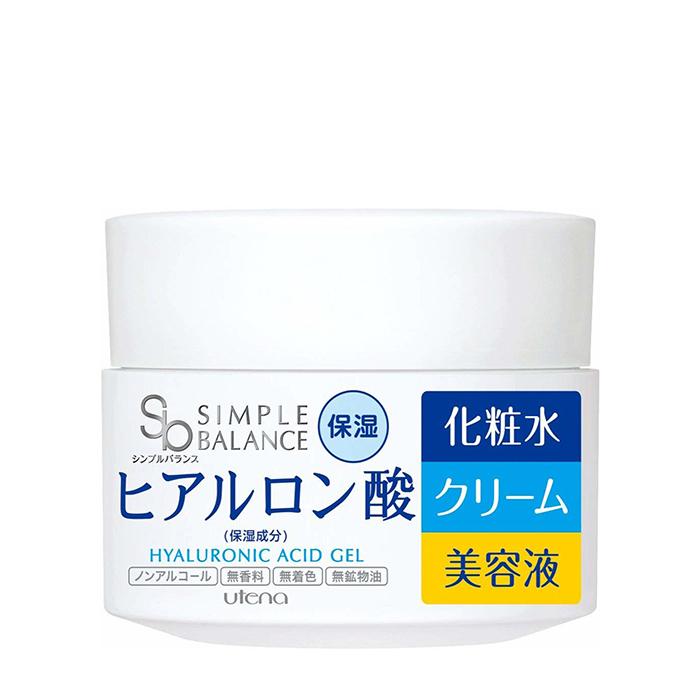 Купить Гель для лица Utena Simple Balance Hyaluronic Acid Gel, Гель для лица с тремя видами гиалуроновой кислоты для увлажнения и защиты кожи, Япония
