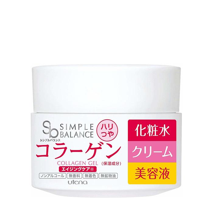 Купить Гель для лица Utena Simple Balance Moisture Cream Collagen Gel, Лёгкий гель для лица с тремя видами коллагена для придания коже сияния и упругости, Япония