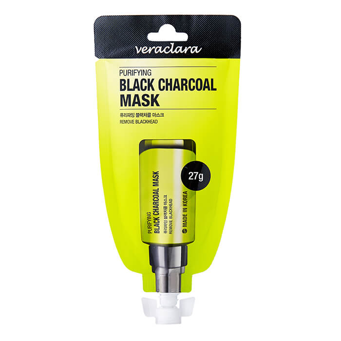 Купить Маска-плёнка Veraclara Purifying Black Charcoal Mask, Маска-пленка для очищения лица с древесным углём, Южная Корея