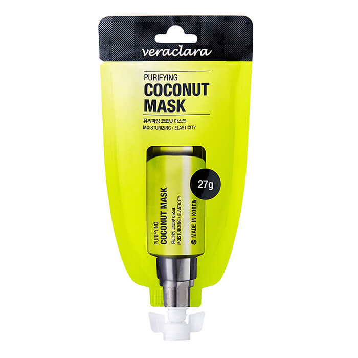 Купить Маска-плёнка Veraclara Purifying Coconut Mask, Маска-пленка для очищения лица с экстрактом кокоса, Южная Корея