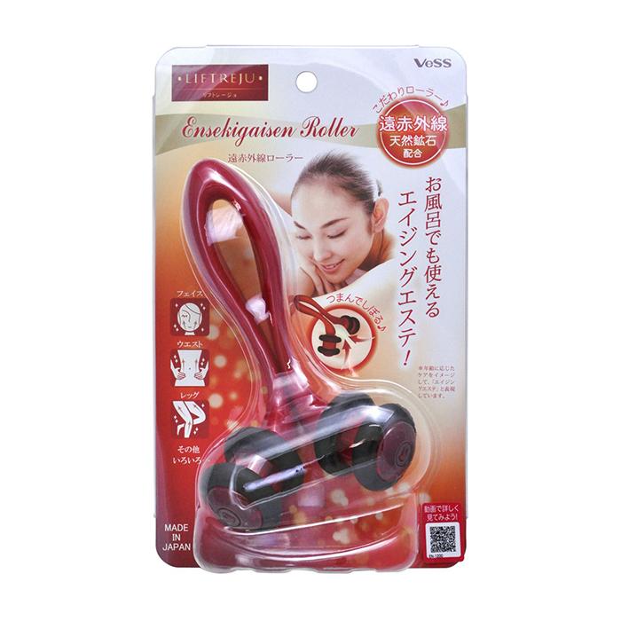 Купить Массажёр для тела Vess Liftreju Roller, Роликовый массажёр для расслабляющего массажа тела с минералами, Япония