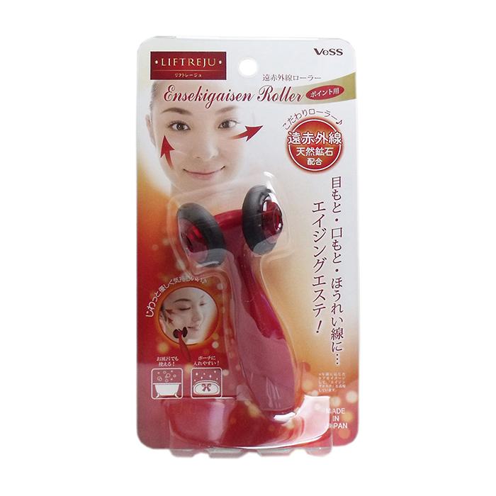 Купить Массажёр для лица Vess Liftreju Face Roller, Роликовый массажёр для лёгкого расслабляющего массажа лица c минералами, Япония