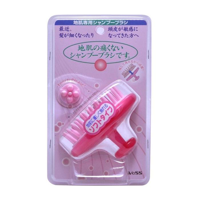 Купить Массажёр для кожи головы Vess Shampoo Brush Soft Type, Мягкий массажёр для очищения кожи головы и стимуляции роста волос, Япония