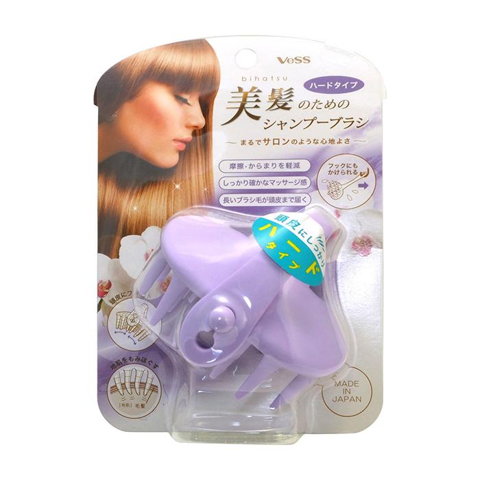 Купить Массажёр для кожи головы Vess Shampoo Brush Hard Type, Жёсткий массажёр для очищения кожи головы и стимуляции роста волос, Япония