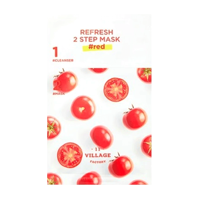 Двухфазная маска Village 11 Factory Refresh 2-Step Mask Red Освежающая двухшаговая программа для ухода за лицом с красными экстрактами фото