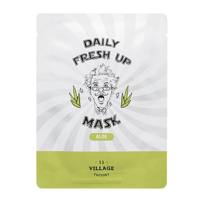Купить Тканевая маска Village 11 Factory Daily Fresh Up Mask Aloe, Увлажняющая тканевая маска для лица с экстрактом алоэ, Южная Корея