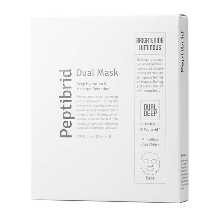 Купить Набор масок Vitabrid C12 Peptibrid Dual Mask Brightening Luminous (5 шт), Набор увлажняющих тканевых маска для лица двойного действия, Южная Корея