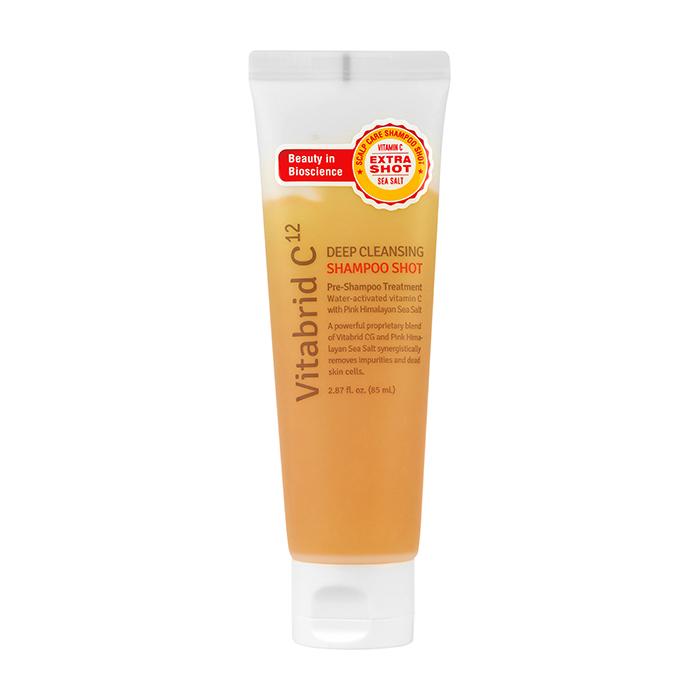 Купить Шампунь для волос Vitabrid C12 Deep Cleansing Shampoo Shot, Шампунь для глубокого очищения кожи головы на основе розовой гималайской морской соли, Южная Корея