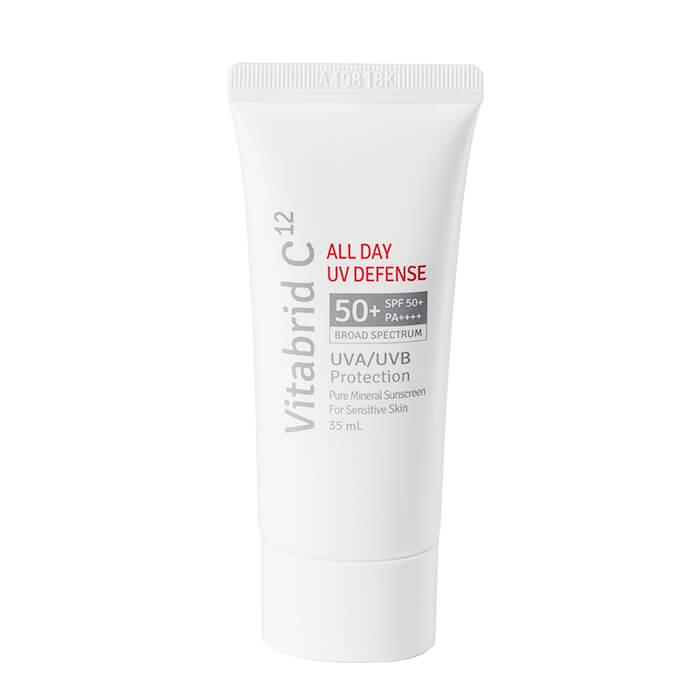 Купить Солнцезащитный кем Vitabrid C12 All Day UV Defence, Антиоксидантный крем для защиты от солнца и защиты кожи от старения, Южная Корея