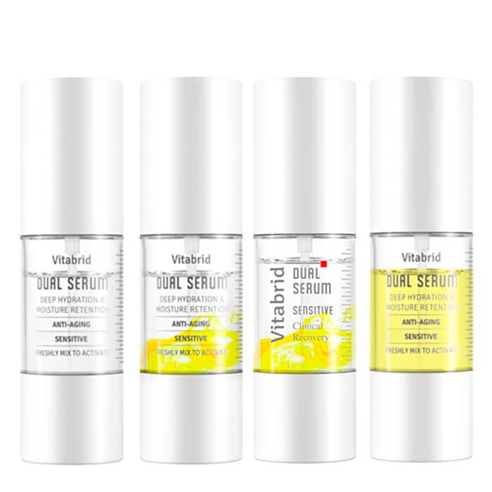 Купить Сыворотка для лица Vitabrid C12 Dual Serum (4х10мл), Набор профессиональных сывороток для лица с витамином С, Южная Корея