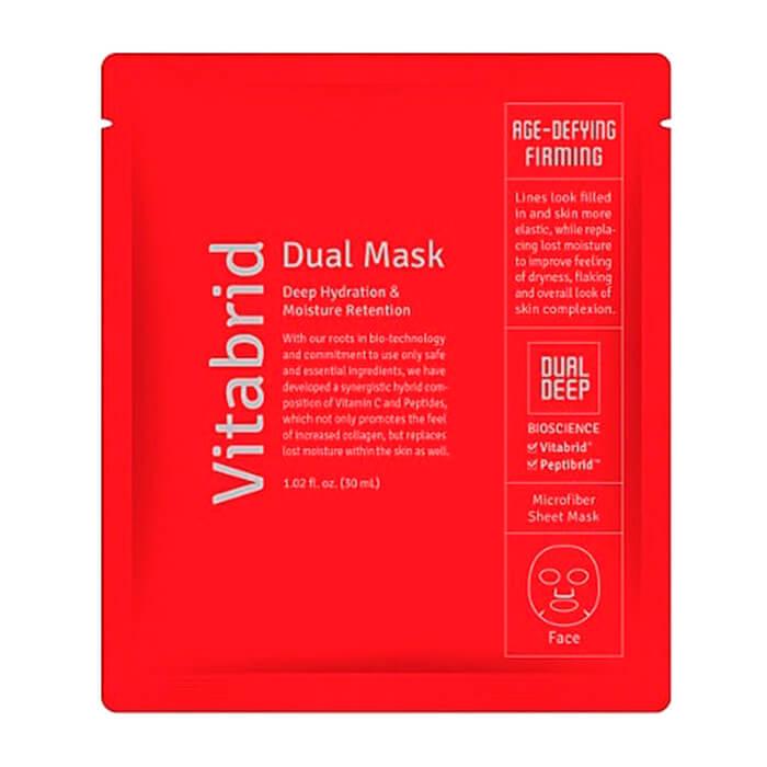 Тканевая маска Vitabrid C12 Dual Mask Age-defying & Firming, Увлажняющая антивозрастная маска для лица двойного действия, Южная Корея  - Купить