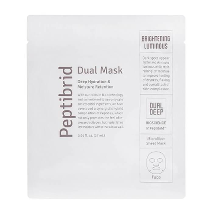 Купить Тканевая маска Vitabrid C12 Peptibrid Dual Mask Brightening Luminous, Увлажняющая осветляющая маска для лица двойного действия, Южная Корея